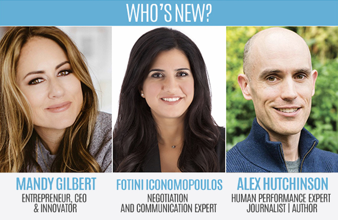 Who's New: Mandy Gilbert, Fotini Iconomopoulos and Alex Hutchinson