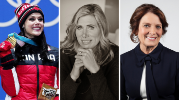 Tessa Virtue, Silken Laumann, and Margaret Trudeau
